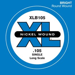 Image for XLB105 Single Nickel Bass String (105) from SamAsh