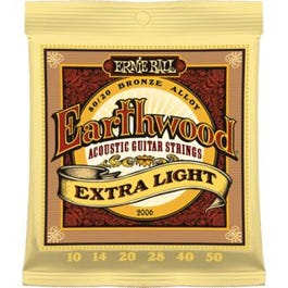 Image for 2006 Earthwood Extra Light Acoustic Guitar Strings (10-50) from SamAsh