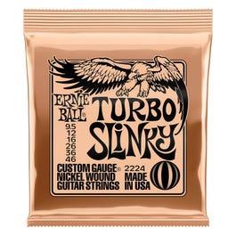 Ernie Ball Turbo Slinky Nickel Wound Electric Guitar Strings, 9.5-46