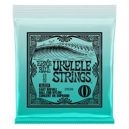 Ernie Ball Concert/Soprano Nylon Ball-End Ukulele Strings, Black
