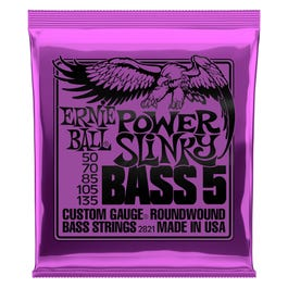 Image for 2821 Power Slinky Bass Electric Bass 5 String Set (50-135) from SamAsh