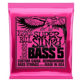 Image for 2824 Super Slinky Bass Electric Bass 5 String Set (40-125) from SamAsh