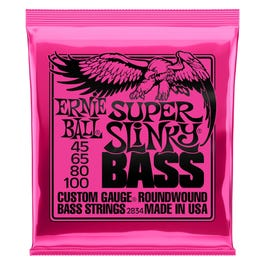 Image for 2834 Super Slinky Electric Bass 4 String Set (45-100) from SamAsh