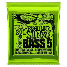 Image for 2836 Regular Slinky Bass Electric Bass 5 String Set (45-130) from SamAsh