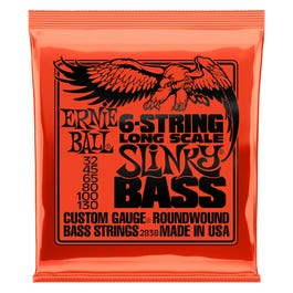 Image for 2838 Long Scale Slinky Bass Electric Bass 6 String Set (32-130) from SamAsh