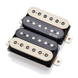 EMG Super 77 Retro Active Electric Guitar Humbucker Pickup Set, Zebra
