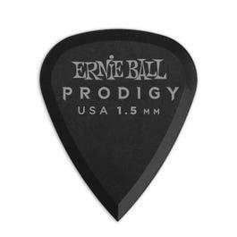 Ernie Ball 9199 Prodigy Picks, Matte Black, 6 Pack, 1.5mm