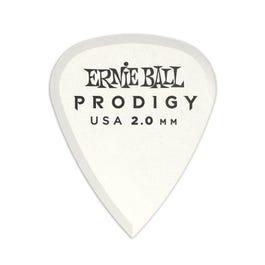 Ernie Ball 9202 Prodigy Picks, White Standard, 6 Pack, 2.0mm