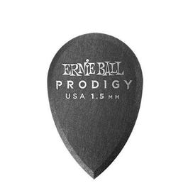 Ernie Ball 9330 Prodigy Picks, Black Teardrop, 6 Pack, 1.5mm