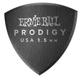 Ernie Ball 9332 Prodigy Picks, Black Large Shield, 6 Pack, 1.5mm