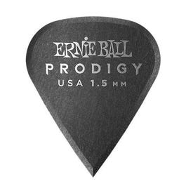 Ernie Ball 9335 Prodigy Picks, Black Sharp, 6 Pack, 1.5mm