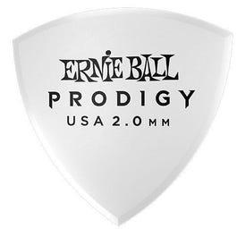 Ernie Ball 9338 Prodigy Picks, White Large Shield, 6 Pack, 2.0mm