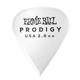 Ernie Ball 9341 Prodigy Picks, White Sharp, 6 Pack, 2.0mm