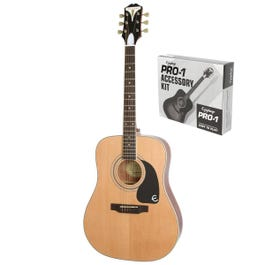 Image for PRO-1 Plus Acoustic Guitar with Accessory Kit from SamAsh