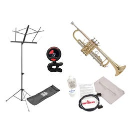 Image for TR711 Prelude Bb Student Trumpet (Gold Lacquer) Pack with Accessories from SamAsh