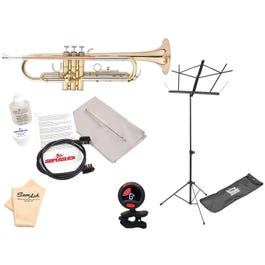 Image for 483LE Deluxe Engraved Student Trumpet (Laquer Finish) Pack with Accessories from SamAsh