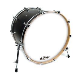 "Evans 16"" EQ3 Resonant Bass Drum Head, White - No Port"