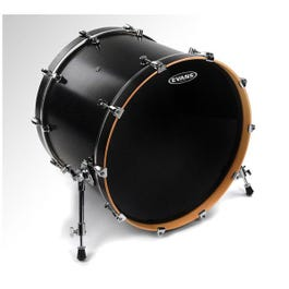 Image for Black Resonant Bass Drum Head from SamAsh