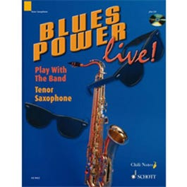 Image for Blues Power Live for Tenor Saxophone (Book & CD) from SamAsh