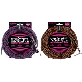 Image for 25' Braided Straight / Angle Instrument Cable, Black Mix from SamAsh