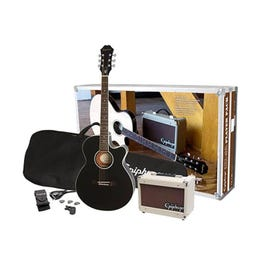 Image for PR-4E Acoustic-Electric Guitar Player Pack (Black) from SamAsh