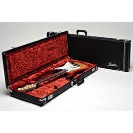 Image for Deluxe Black Tolex Stratocaster or Telecaster Electric Guitar Case (Orange Inter from SamAsh