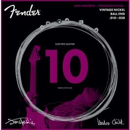 Fender Hendrix Voodoo Child Ball End Nickel Electric Guitar Strings 10-38