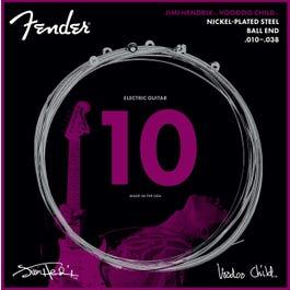 Fender Hendrix Voodoo Child Ball End NPS Electric Guitar Strings, 10-38