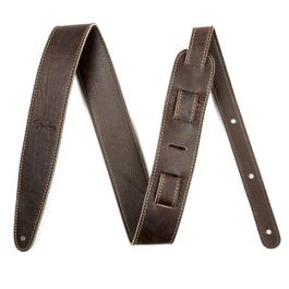 """Fender 2"""" Artisan Crafted Leather Guitar Strap, Brown"""