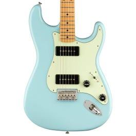 Fender Noventa Stratocaster Electric Guitar (Daphne Blue, Maple Fretboard)