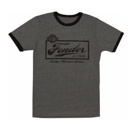 Fender Beer Label Mens T-Shirt, Black, Large