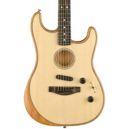 Fender American Acoustasonic Stratocaster Acoustic-Electric Guitar Natural