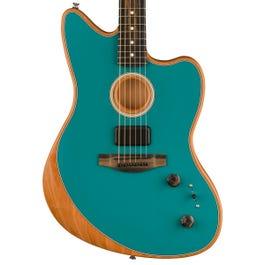 Fender American Acoustasonic Jazzmaster Acoustic-Electric Guitar Ocean Turquoise