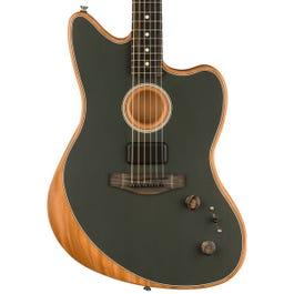 Fender American Acoustasonic Jazzmaster Acoustic-Electric Guitar Tungsten