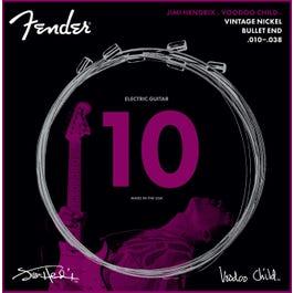 Fender Hendrix Voodoo Child Bullet End Nickel Electric Guitar Strings, 10-38