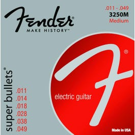 Image for Super Bullets Nickelplated Medium Electric Guitar Strings (11-48) from SamAsh