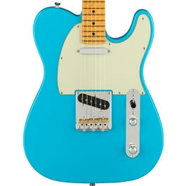 Fender American Professional II Telecaster Electric Guitar (Miami Blue, Maple Fretboard)