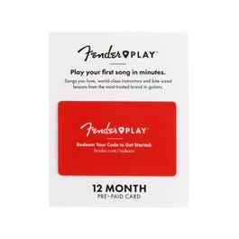Image for Fender Play 12-Month Subscription Prepaid Card from SamAsh