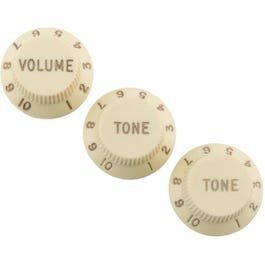 Image for Road Worn Strat Knobs Aged White from SamAsh