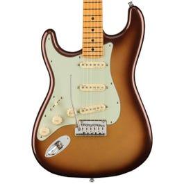 Fender American Ultra Stratocaster Left-Handed Electric Guitar (Mocha Burst, Maple Fretboard)
