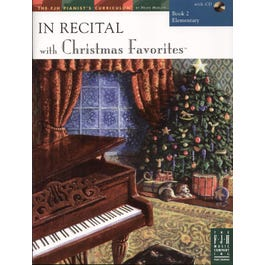 FJH Music In Recital with Christmas Favorites Book 2 with CD (Elementary)