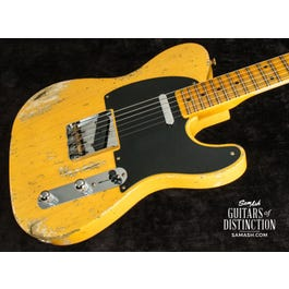 Image for 1952 Telecaster Heavy Relic Electric Guitar Aged Nocaster Blonde from SamAsh