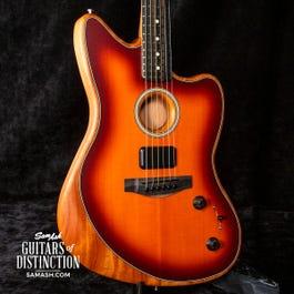 Fender American Acoustasonic Jazzmaster Acoustic-Electric Guitar Tobacco Sunburst