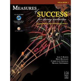 Image for Measures of Success for String Orchestra- Viola BK/DVD from SamAsh