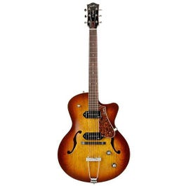 Image for 5th Avenue CW Kingpin II Archtop Hollow Body Electric Guitar (Cognac Burst) from Sam Ash