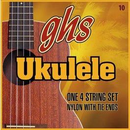 GHS Hawaiian D-Tuning Ukulele String Set, Clear Nylon