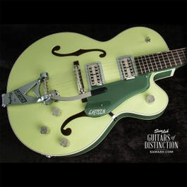 Image for G6118T Players Edition Anniversary Hollow Body Electric Guitar 2-Tone Smoke Green from SamAsh