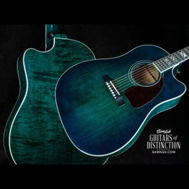 Image for Limited Edition J-45 Chroma AG Acoustic-Electric Guitar Teal Burst from SamAsh