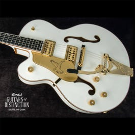 Image for G6136TLH-WHT Players Edition White Falcon Left-Handed Hollow Body Electric Guitar from SamAsh