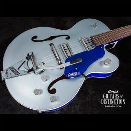 Image for G6118T Hollow Body Electric Guitar 2-Tone Iridium Silver/Azure Metallic from SamAsh